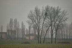 Ο χειμώνας της Po κοιλάδας στην Ιταλία Στοκ Εικόνες