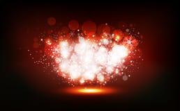 Ο χειμώνας Χριστουγέννων, αστέρια διασκορπίζει shimmer το κόμμα κομφετί εορτασμού νέου, φωτεινή σκόνη που καίγεται, μουτζουρωμένο ελεύθερη απεικόνιση δικαιώματος