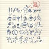 Ο χειμώνας doodle έθεσε Στοκ εικόνα με δικαίωμα ελεύθερης χρήσης