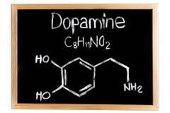 Ο χημικός τύπος της ντοπαμίνης Στοκ Φωτογραφία