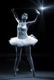 Ο χορευτής και η σκηνή μπαλέτου παρουσιάζουν στοκ εικόνα