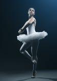 Ο χορευτής και η σκηνή μπαλέτου παρουσιάζουν Στοκ εικόνα με δικαίωμα ελεύθερης χρήσης