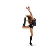 Ο χορευτής κοριτσιών τελειώνει το σημείο στοκ φωτογραφίες