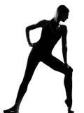 ο χορευτής μπαλέτου θέτει τη μόνιμη γυναίκα Στοκ φωτογραφία με δικαίωμα ελεύθερης χρήσης