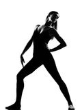 ο χορευτής μπαλέτου θέτει τη μόνιμη γυναίκα Στοκ φωτογραφίες με δικαίωμα ελεύθερης χρήσης