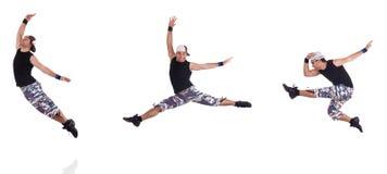 Ο χορευτής που απομονώνεται στο άσπρο υπόβαθρο Στοκ εικόνες με δικαίωμα ελεύθερης χρήσης