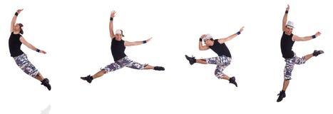 Ο χορευτής που απομονώνεται στο άσπρο υπόβαθρο Στοκ φωτογραφία με δικαίωμα ελεύθερης χρήσης