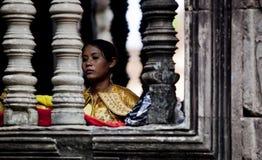 Ο χορευτής σε Angkor Wat Στοκ εικόνες με δικαίωμα ελεύθερης χρήσης