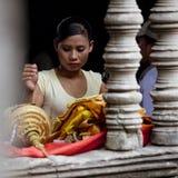 Ο χορευτής σε Angkor Wat Στοκ Φωτογραφίες