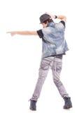 Ο χορευτής στην υπόδειξη θέτει Στοκ φωτογραφία με δικαίωμα ελεύθερης χρήσης
