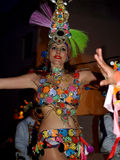 Ο χορευτής, το Μάρτιο του 2014 Lanzarote καρναβαλιού Στοκ Φωτογραφία