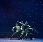 Ο χορός ανιχνεύω-στρατιωτικών Στοκ εικόνες με δικαίωμα ελεύθερης χρήσης