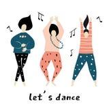 ο χορός αφήνει Διάνυσμα κοριτσιών χορού ελεύθερη απεικόνιση δικαιώματος