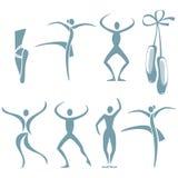 Ο χορός θέτει Στοκ Εικόνες