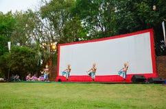 Ο χορός κλασσικός Ταϊλανδός Manohra συντονίζει τη μορφή λαϊκός-χορού στο νότο της Ταϊλάνδης Στοκ εικόνα με δικαίωμα ελεύθερης χρήσης