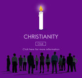 Ο χριστιανισμός Ιησούς Χριστός θεωρεί την έννοια θρησκείας Θεών πίστης Στοκ φωτογραφία με δικαίωμα ελεύθερης χρήσης