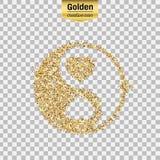 Ο χρυσός ακτινοβολεί αντικείμενο διανυσματική απεικόνιση