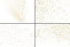 Ο χρυσός ακτινοβολεί διάνυσμα σύστασης Καθορισμένο στοιχείο σχεδίου στοκ εικόνες