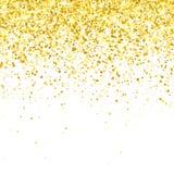 Ο χρυσός ακτινοβολεί μειωμένα μόρια στο άσπρο υπόβαθρο διάνυσμα Στοκ Εικόνα