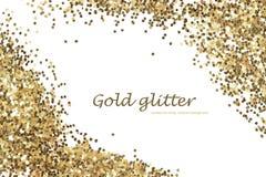Ο χρυσός ακτινοβολεί σύσταση που απομονώνεται αφηρημένη ανασκόπηση Στοκ Εικόνες