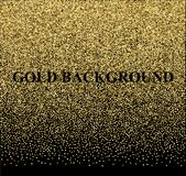 Ο χρυσός ακτινοβολεί σύσταση σε ένα μαύρο υπόβαθρο background colors holiday red yellow Χρυσή έκρηξη του κομφετί Χρυσή κοκκώδης π Στοκ Εικόνα