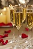 Ο χρυσός ακτινοβολεί τιμή τών παραμέτρων δεξίωσης γάμου Στοκ Εικόνες