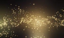 Ο χρυσός ακτινοβολεί υπόβαθρο αισθήσεων μαγείας επίσης corel σύρετε το διάνυσμα απεικόνισης Στοκ Φωτογραφίες