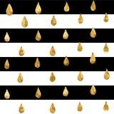 Ο χρυσός ακτινοβολεί άνευ ραφής σχέδιο, ριγωτό υπόβαθρο απεικόνιση αποθεμάτων