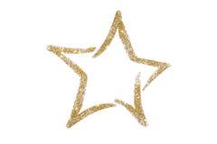 Ο χρυσός ακτινοβολεί αστέρι Τσέκια Χρυσός λάμψτε σκόνη ακτινοβολήστε Λάμποντας σύμβολο Στοκ Εικόνες