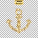 Ο χρυσός ακτινοβολεί εικονίδιο στοκ εικόνες