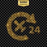 Ο χρυσός ακτινοβολεί διανυσματικό εικονίδιο Στοκ φωτογραφία με δικαίωμα ελεύθερης χρήσης