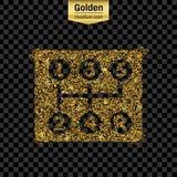 Ο χρυσός ακτινοβολεί διανυσματικό εικονίδιο Στοκ Εικόνα