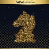 Ο χρυσός ακτινοβολεί διανυσματικό εικονίδιο Στοκ εικόνες με δικαίωμα ελεύθερης χρήσης