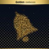 Ο χρυσός ακτινοβολεί διανυσματικό εικονίδιο απεικόνιση αποθεμάτων