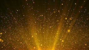 Ο χρυσός αστεριών μορίων ακτινοβολεί με το χρυσό αστεριών μορίων ακτινοβολεί με το ελαφρύ awa ακτίνων ελεύθερη απεικόνιση δικαιώματος