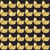Ο χρυσός αφήνει το άνευ ραφής σχέδιο Στοκ Φωτογραφία