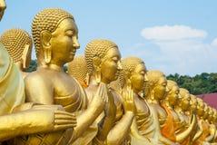 Ο χρυσός Βούδας στο αναμνηστικό πάρκο του Βούδα Στοκ εικόνα με δικαίωμα ελεύθερης χρήσης