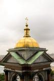 Ο χρυσός θόλος του ορθόδοξου καθεδρικού ναού Στοκ φωτογραφία με δικαίωμα ελεύθερης χρήσης