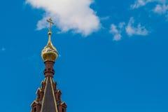 Ο χρυσός θόλος του ναού Στοκ Φωτογραφία