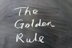 Ο χρυσός κανόνας Στοκ Φωτογραφίες