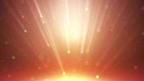 Ο χρυσός μορίων ακτινοβολεί με αφηρημένο υπόβαθρο σκόνης βραβείων ακτίνων το ελαφρύ διανυσματική απεικόνιση