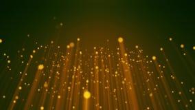 Ο χρυσός μορίων ακτινοβολεί σκόνη βραβείων που το αφηρημένο υπόβαθρο περιτυλίχτηκε διανυσματική απεικόνιση