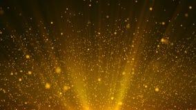 Ο χρυσός μορίων ακτινοβολεί σκόνη βραβείων που το αφηρημένο υπόβαθρο περιτυλίχτηκε ελεύθερη απεικόνιση δικαιώματος