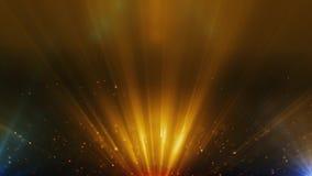 Ο χρυσός μορίων ακτινοβολεί σκόνη βραβείων που το αφηρημένο υπόβαθρο περιτυλίχτηκε 4k απεικόνιση αποθεμάτων