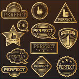 Ο χρυσός ονομάζει «τέλειο» Στοκ Φωτογραφίες