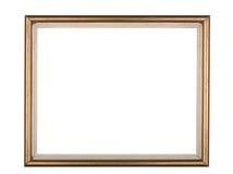 ο χρυσός πλαισίων ανασκόπησης απομόνωσε το λευκό Στοκ φωτογραφία με δικαίωμα ελεύθερης χρήσης