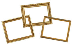 ο χρυσός πλαισίων απομόνω&si Στοκ Εικόνες