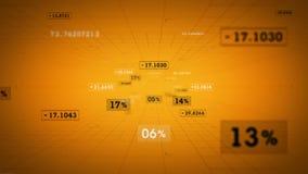 Ο χρυσός ποσοστών και τιμών μετακινείται διανυσματική απεικόνιση
