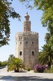 Ο χρυσός πύργος και μερικά δέντρα Στοκ φωτογραφία με δικαίωμα ελεύθερης χρήσης