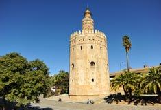 Ο χρυσός πύργος στη Σεβίλη, Ισπανία Στοκ φωτογραφίες με δικαίωμα ελεύθερης χρήσης
